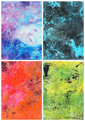 Faux Marbling collage 1