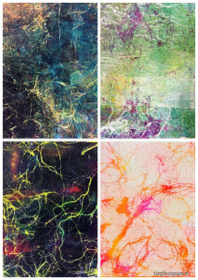 Faux Marbling Collage 2