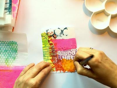 Layered Gelli printed tissue paper 25 - Birgit Koopsen