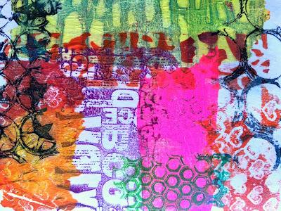 Layered Gelli printed tissue paper 27 - Birgit Koopsen