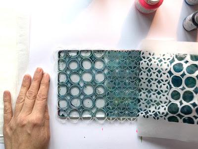 Layered Gelli printed tissue paper 4 - Birgit Koopsen