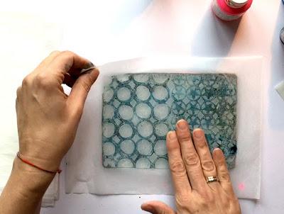Layered Gelli printed tissue paper 6 - Birgit Koopsen
